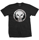 Camiseta Marvel Superheroes de hombre - Design: Punisher Metal Badge