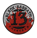 Parche Black Sabbath - Design: 13 Flames Circular