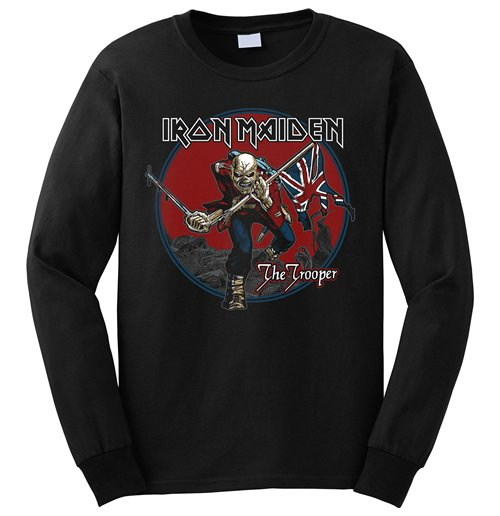 Sudadera Iron Maiden de hombre - Design: Trooper Red Sky