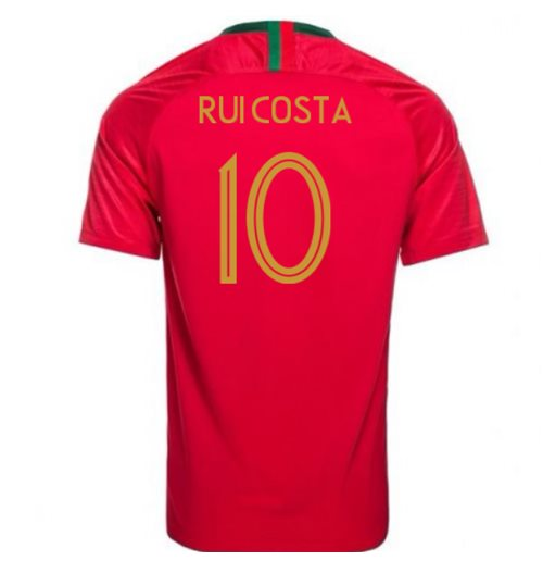 Camiseta 2018/2019 Portugal Fútbol 2018-2019 Home (Rui Costa 10)