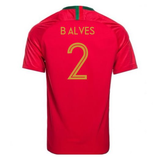 Camiseta 2018/2019 Portugal Fútbol 2018-2019 Home (B Alves 2)