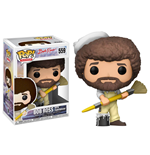 The Joy of Painting POP! Television Vinyl Figura Bob Ross with Paintbrush 9 cm