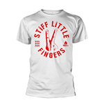 Camiseta Stiff Little Fingers DIGITS en blanco