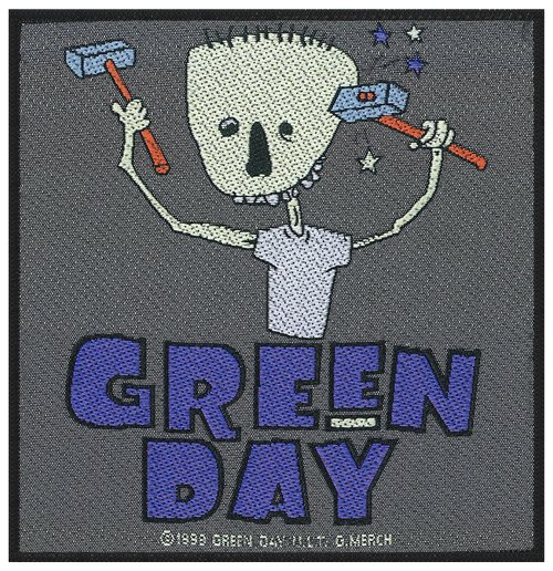 Parche Green Day - Design: Hammer Face