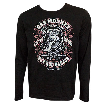 Camiseta de manga larga Gas Monkey Garage Blood Sweat and Beer