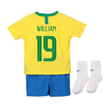 Mini Conjunto 2018/2019 Brasil Fútbol 2018-2019 Home de bebé (Willian 19)