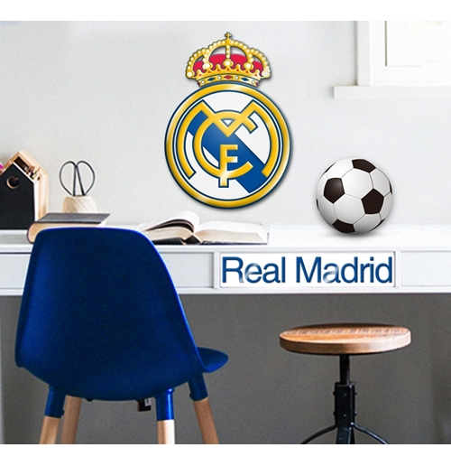 Vinilo decorativo para pared real madrid 304768 por tan for Decoration chambre real madrid