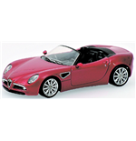 ALFA ROMEO 8C SPIDER RED METALLIC