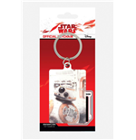 Star Wars Episode VIII Llavero metálico BB-8 Peek 6 cm