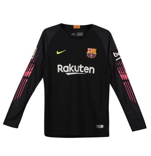 753970bf4113a Compra Camiseta Portero FC Barcelona 2018-2019 Home (Negro) de niño