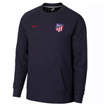 2018-2019 Atletico Madrid Nike Modern Crew Sweater (obsidiana)