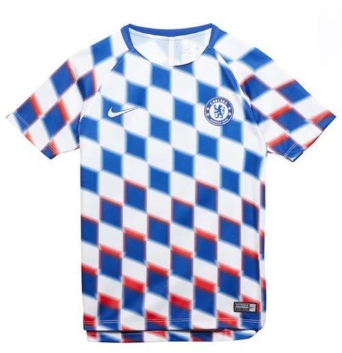 71a43889e5 2018-2019 Chelsea Nike Pre-Match camisa de entrenamiento (blanco) - niños