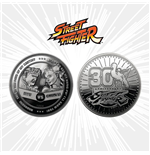 Street Fighter Moneda 30th Anniversary Ryu vs Chun-Li (plateado)