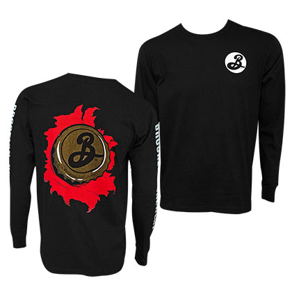 BROOKLYN BREWERY Camiseta manga larga hombre negro