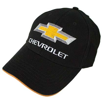 Sombrero Chevrolet CHEVY Car Logo Black Yellow Men's Hat