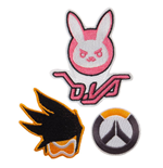Overwatch Pack de 3 Parches Logo, Bunny & Tracer