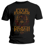 Camiseta Five Finger Death Punch de hombre - Design: Wanted