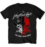 Camiseta Five Finger Death Punch de hombre - Design: Jekyll & Hyde