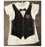 Camiseta Justin Bieber de mujer - Design: Tux All Over