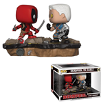 Deadpool Pack de 2 POP! Movie Moments Vinyl Cabezón Deadpool vs. Cable 9 cm
