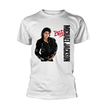 Camiseta Michael Jackson  Bad White