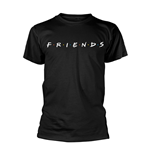 Camiseta Friends LOGO en ngro