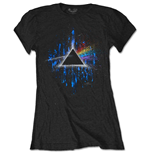 Camiseta Pink Floyd de mujer - Design: Dark Side of the Moon Blue Splatter