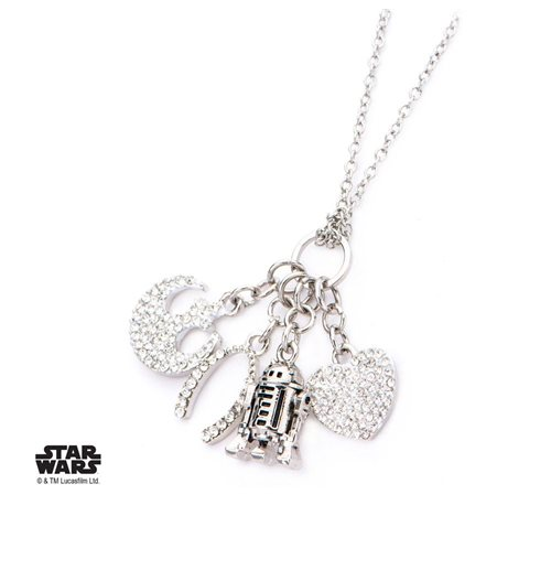 Star Wars Colgante con Collar de acero inoxidable R2-D2 Multi Charm