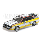 AUDI QUATTRO A2 BLOMQVIST CEDERBERG WINNERS SANYO RALLY OF NEW ZEALAND 1984