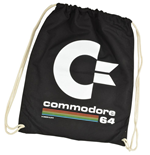 Commodore 64 Bolso de tela Black Logo