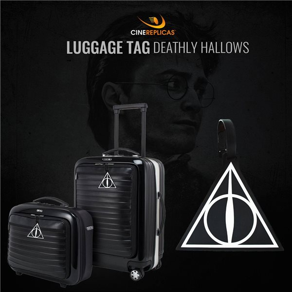 Harry Potter Etiqueta del equipaje caucho Deathly Hallows New Ver.