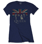 Camiseta Queen de mujer - Design: Vintage Union Jack