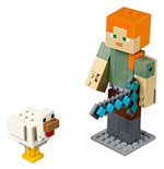 LEGO® Minecraft™ - BigFig Series 1: Alex con Gallina