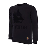 AS Roma Black Out Retro Logo Suéter