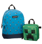 Minecraft Set de Mochila & Lunch Box Sword Axe