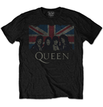 Camiseta Queen de hombre - Design: Vintage Union Jack