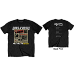 Camiseta Guns N' Roses unisex - Design: Lies Track List