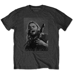 Camiseta David Gilmour unisex - Design: On Microphone Half-tone