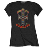Camiseta Guns N' Roses de mujer - Design: Appetite for Destruction