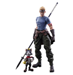 Final Fantasy VII Advent Children Play Arts Kai Figuras Cid Highwind & Cait Sith 9 - 27 cm
