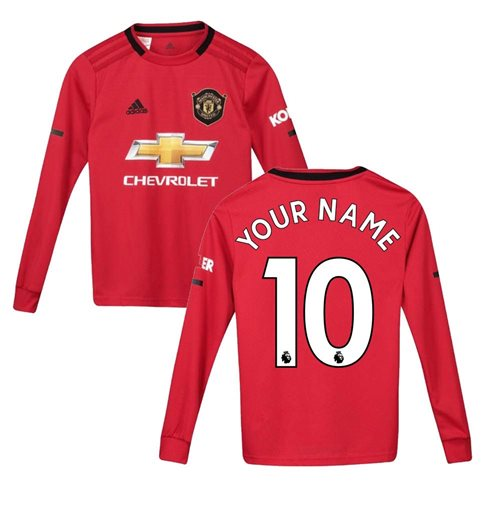 Camiseta manga larga Manchester United FC 2019-2020 Home personalizable
