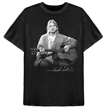 Camiseta Kurt Cobain unisex - Design: Guitar Live Photo