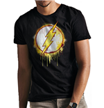 Camiseta The Flash - Design: Splatter Logo unisex en negro