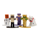 Minecraft Pack de 5 Figuras Nano Metalfigs Diecast Wave 1 4 cm