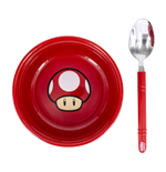 Super Mario Breakfast Set Bowl con cuchara Champiñón Power-Up