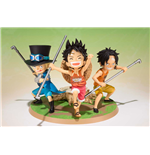 Figura One Piece Zero Luffy Ace Sabo