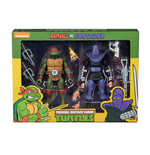 Muñeco De Acción Tmnt Cartoon Raphael Vs Foot Solider 2pk