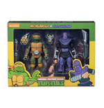 Muñeco De Acción Tmnt Cartoon Michelangelo Vs Foot S 2pk