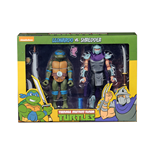 Muñeco De Acción Tmnt Cartoon Leonardo Vs Shredder 2pk