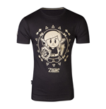 Camiseta The Legend of Zelda Link's Awakening Tribal Link, hombre, extra extra grande, negro